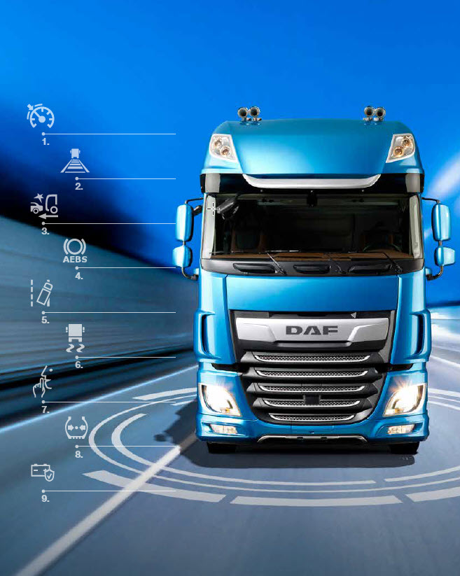 DAF safety and comfort systems